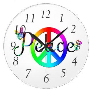 Peace Large Clock
