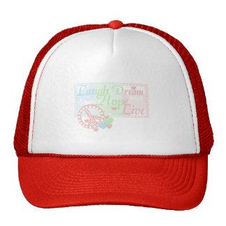 Peace Laugh Dream Hope Live Mesh Hats