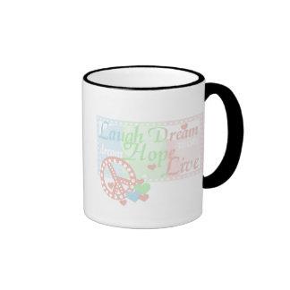 Peace Laugh Dream Hope Live Mugs