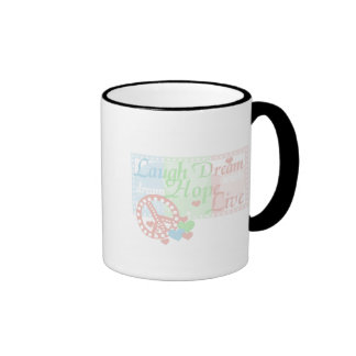 Peace Laugh Dream Love Hope Tshirts and Gifts Mug