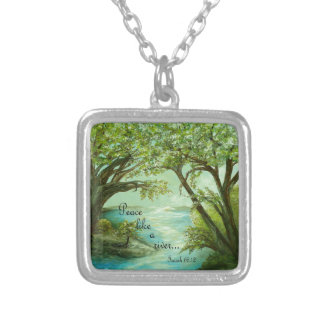 Peace  Like a River Silver Plated Necklace