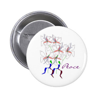 Peace Lillies Button - Customizable Pinback Button