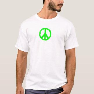 PEACE - Lime green T-Shirt
