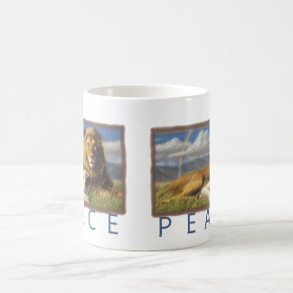 Peace  Lion and Lamb cup Mugs