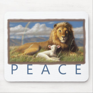 Peace Lion and Lamb mousepad