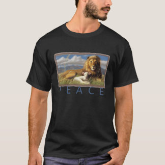 Peace Lion and Lamb t shirt black