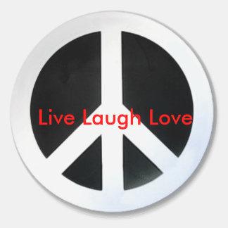 peace, Live Laugh Love Classic Round Sticker