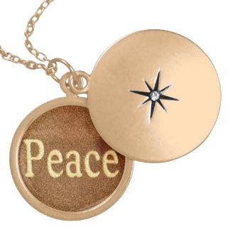 Peace Locket Necklace