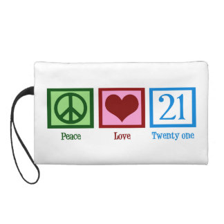 Peace Love 21 Wristlet Clutches