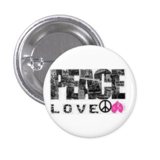 Peace, love 3 cm round badge