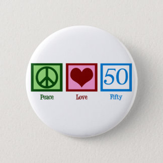 Peace Love 50 6 Cm Round Badge