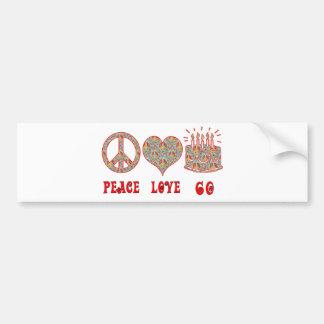 Peace Love 60 Bumper Sticker
