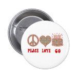 Peace Love 60 Button