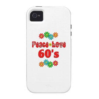 Peace Love 60s Case-Mate iPhone 4 Case