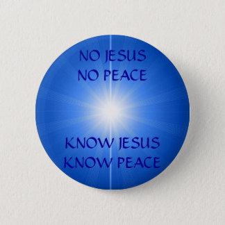PEACE & LOVE 6 CM ROUND BADGE
