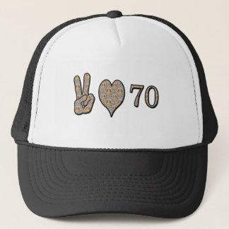 Peace Love 70 Trucker Hat