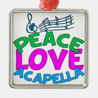 Peace Love Acapella Christmas Ornament