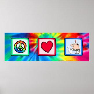 Peace, Love, Accountants Print