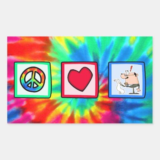 Peace, Love, Accountants Rectangular Stickers