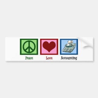 Peace Love Accounting Bumper Sticker