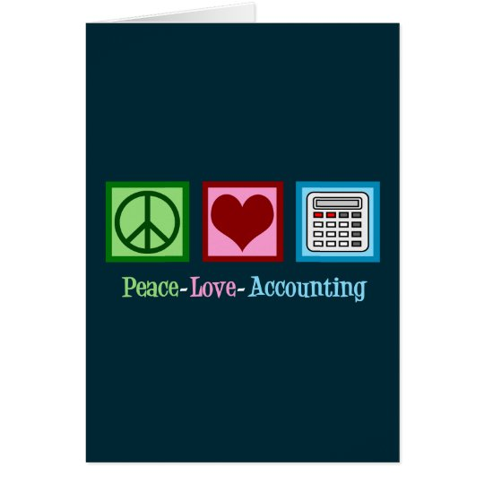 Peace Love Accounting Card