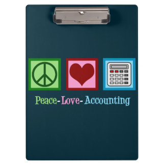Peace Love Accounting Clipboard