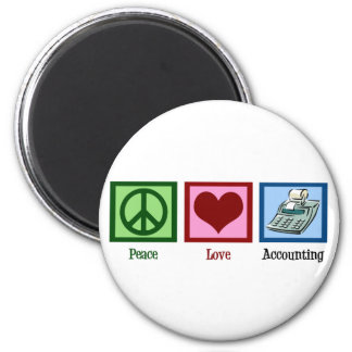 Peace Love Accounting Magnet