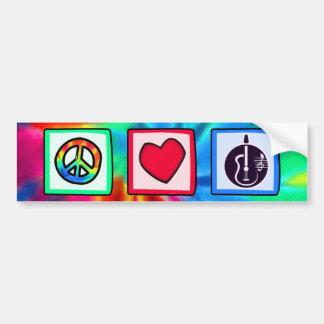 Peace Love Acoustic Guitars Bumper Stickers