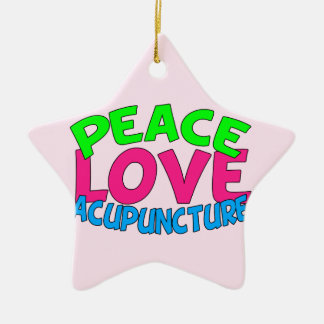 Peace Love Acupuncture Christmas Ornament