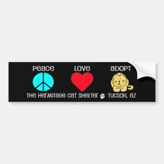 Peace, Love, Adopt- Bumper Sticker
