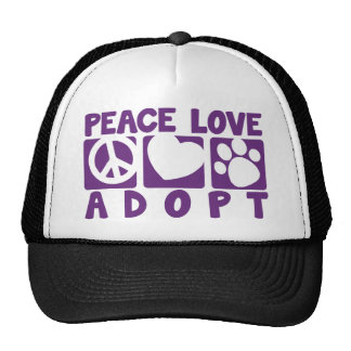 Peace Love Adopt Trucker Hat