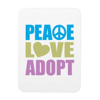 Peace Love Adopt Vinyl Magnets
