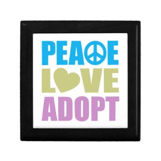 Peace Love Adopt Small Square Gift Box