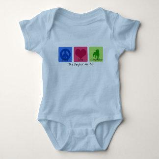 Peace Love Affenpinscher Baby Bodysuit