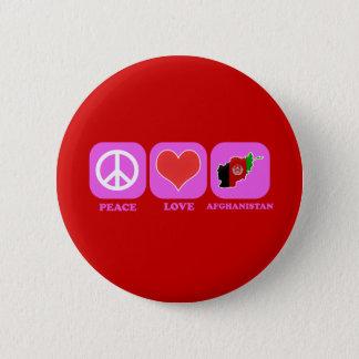 Peace Love Afghanistan 6 Cm Round Badge