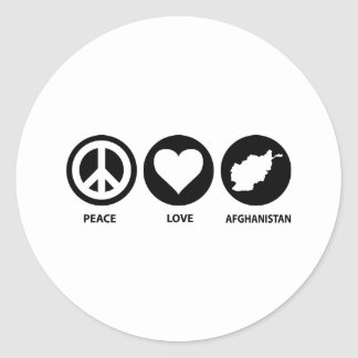 Peace Love Afghanistan Round Sticker
