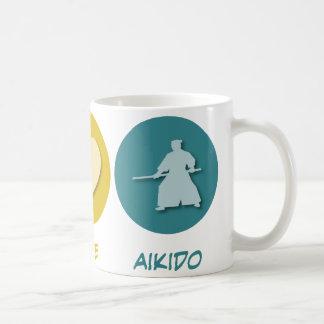 Peace Love Aikido Coffee Mugs
