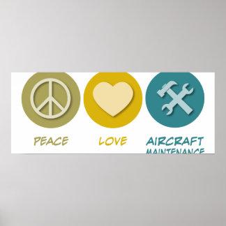 Peace Love Aircraft Maintenance Print