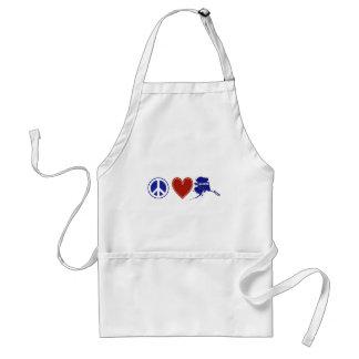 Peace Love Alaska Standard Apron
