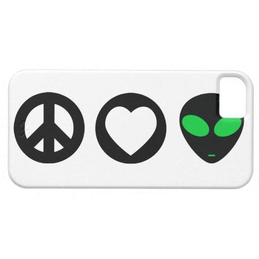 Peace Love Alien iPhone 5 Cover