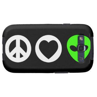 Peace Love Alien Samsung Galaxy S3 Case