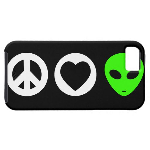 Peace Love Alien iPhone 5 Case