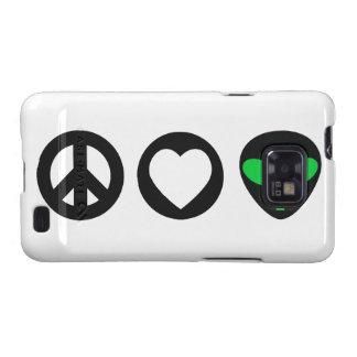 Peace Love Alien Samsung Galaxy S2 Cover