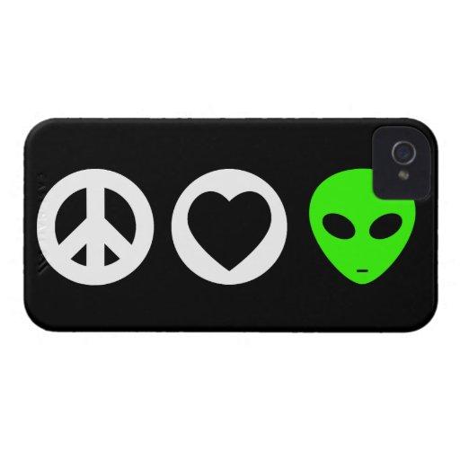 Peace Love Alien iPhone 4 Case