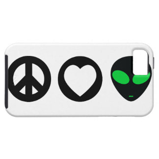 Peace Love Alien Tough iPhone 5 Case