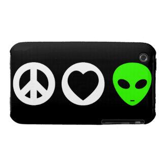 Peace Love Alien Case-Mate iPhone 3 Cases