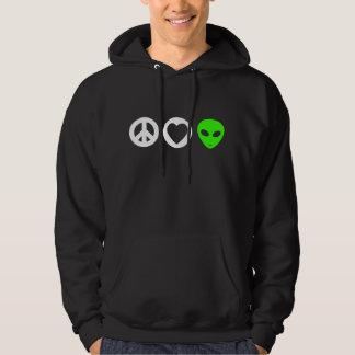 Peace Love Alien Hoodie