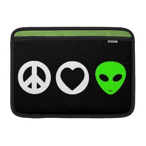 Peace Love Alien Sleeves For MacBook Air