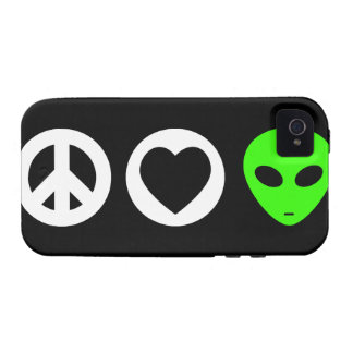 Peace Love Alien iPhone 4 Covers