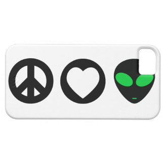 Peace Love Alien iPhone 5 Covers